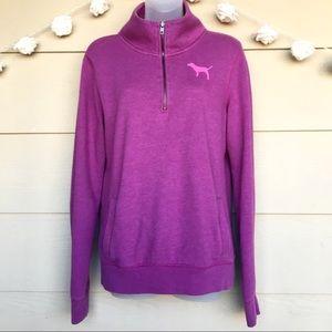 Pink Victoria's Secret • Purple Half Zip Pullover